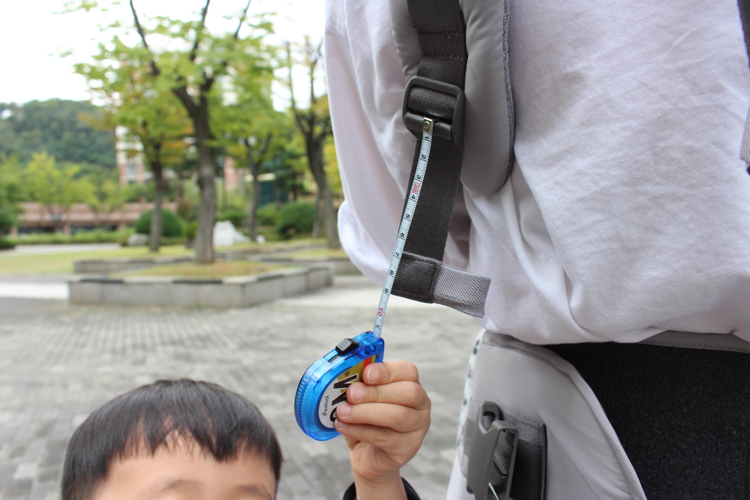 다이얼핏 힙시트 아기띠 어깨 스트랩 웨빙 길이 측정