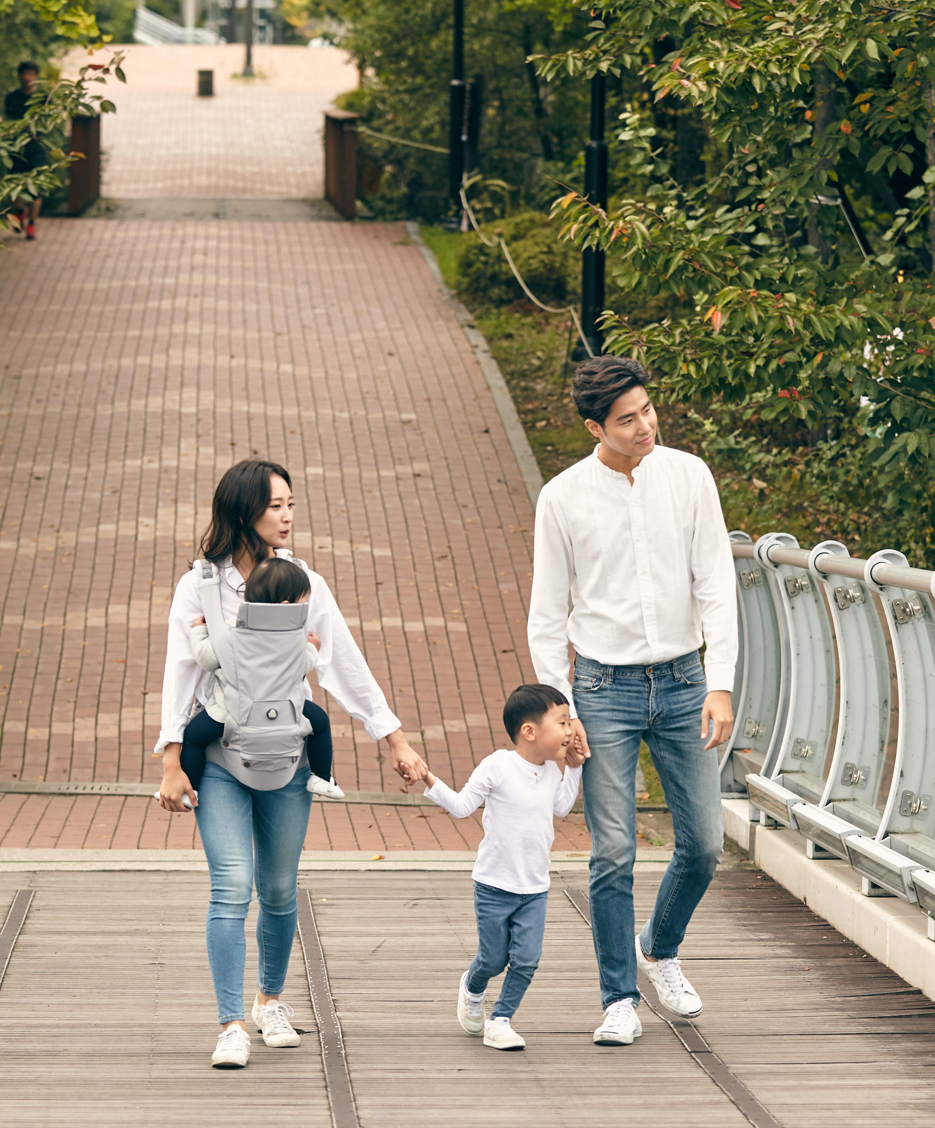 허그파파 가족 가을 나들이 공원