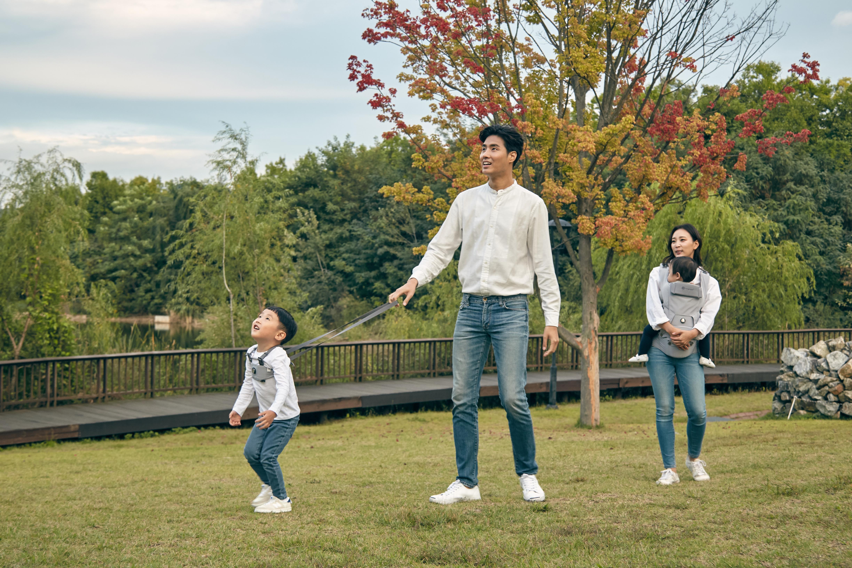허그파파 가족 나들이 공원 다이얼핏 부스터 사용
